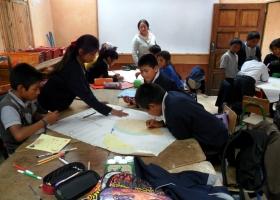 Vierte Klasse – Arbeit in Gruppen